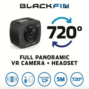 NEW! 720 VR ACTION CAMERA & HEADSET by Black Fin